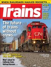 Trains Magazine omslag