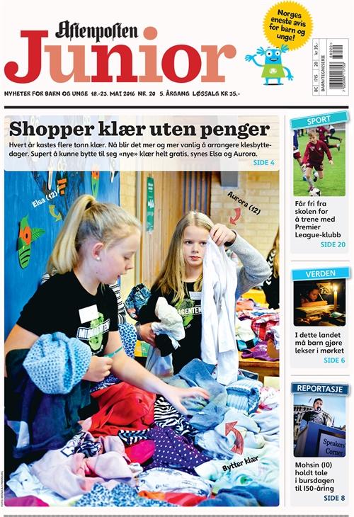 7c4b84a5 Aftenposten Junior abonnement - bestill billig fra Bladkongen