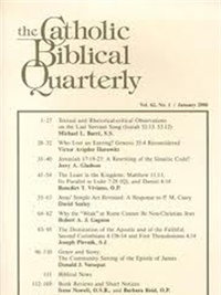 Catholic Biblical Quarterly forside