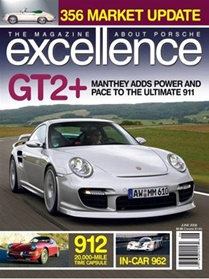 Excellence, A Magazine About Porsche Cars forside